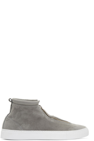 Diemme - Grey Suede Fontesi High-Top Sneakers