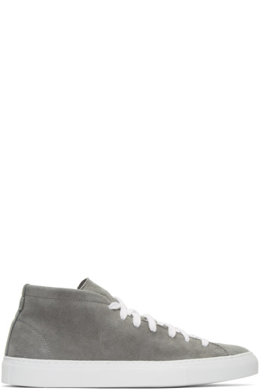 Diemme - Grey Suede Loria Mid-Top Sneakers