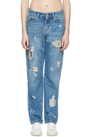 Versus - Blue Distressed Boyfriend Jeans