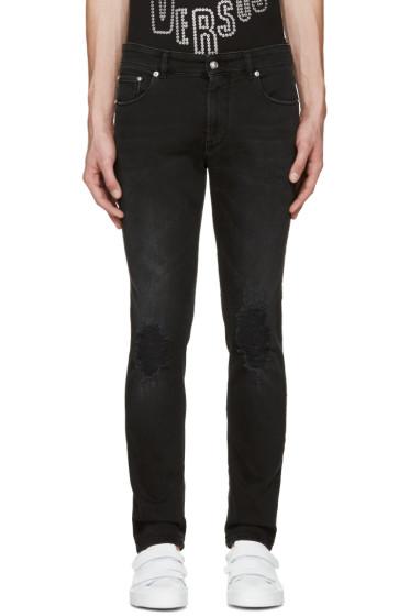 Versus - Black Ripped Knee Jeans