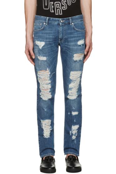 Versus - Blue Destroyed Jeans