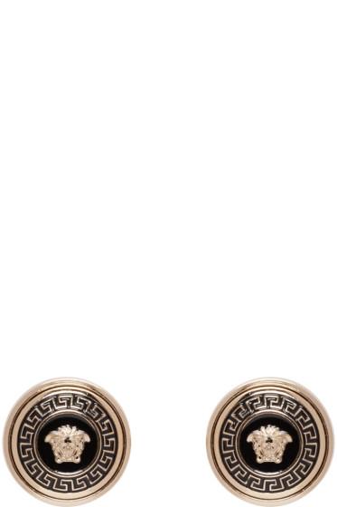 Versace - Gold Enamel Medusa Earrings