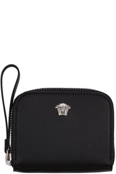 Versace - Black Medusa Zip Wallet