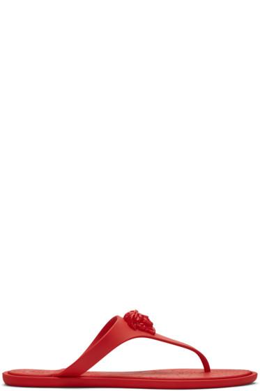 Versace - Red Medusa Sandals