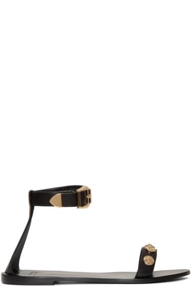 Versace - Black Medusa Medallions Sandals