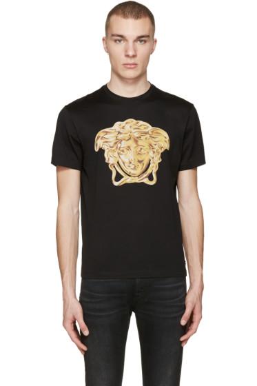 Versace - Black Medusa Statue T-Shirt