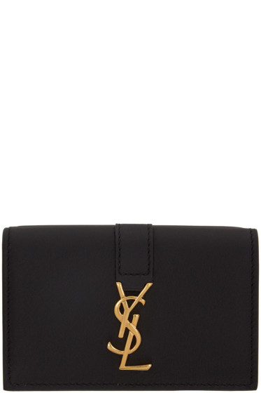 Saint Laurent - Black Tiny Monogram Wallet