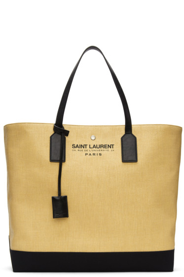 Saint Laurent - Beige Large Beach Tote