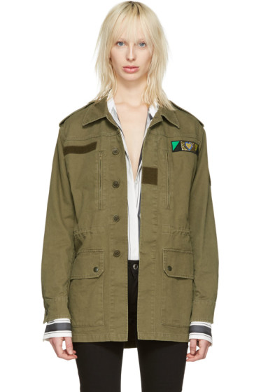 Saint Laurent - Green 'Love' Military Jacket
