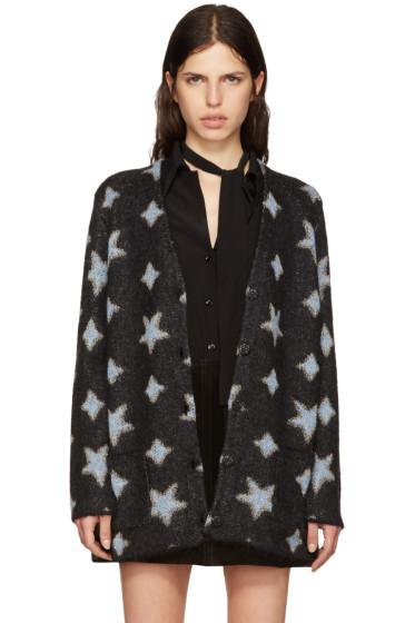 Saint Laurent - Black Oversized Star Cardigan