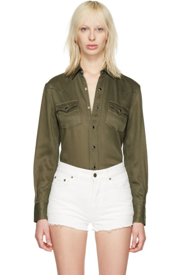 Saint Laurent - Green Western Shirt