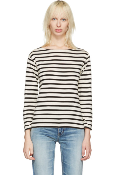 Saint Laurent - White Striped Marlon T-Shirt