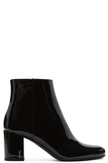 Saint Laurent - Black Patent Leather Babies Boots
