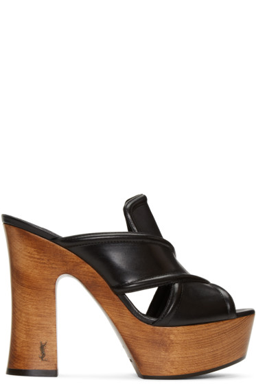Saint Laurent - Black 626 Clog Sandals