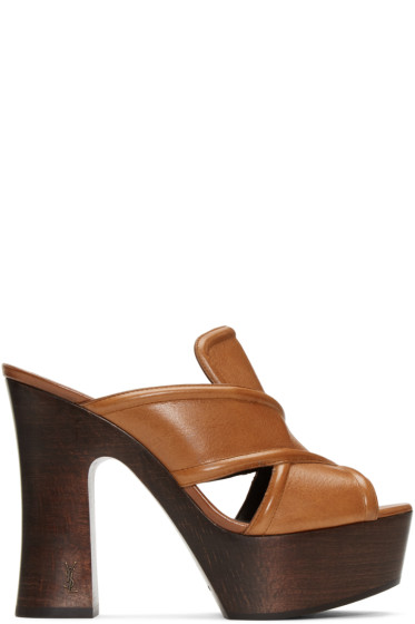 Saint Laurent - Brown 626 Clog Sandals