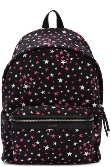 Saint Laurent - Black Stars City Backpack
