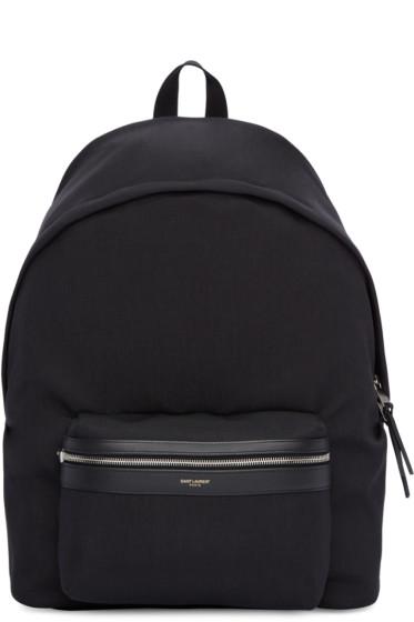 Saint Laurent - Black Giant City Backpack