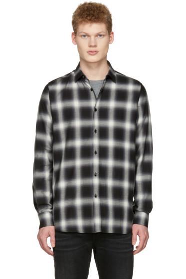 Saint Laurent - Black Check Shirt