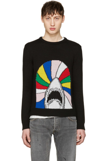 Saint Laurent - Black Shark Sweater