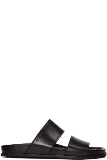 Saint Laurent - Black Leather Nu Pied Sandals