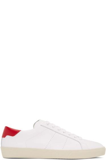 Saint Laurent - White SL/06 Court Classic Sneakers