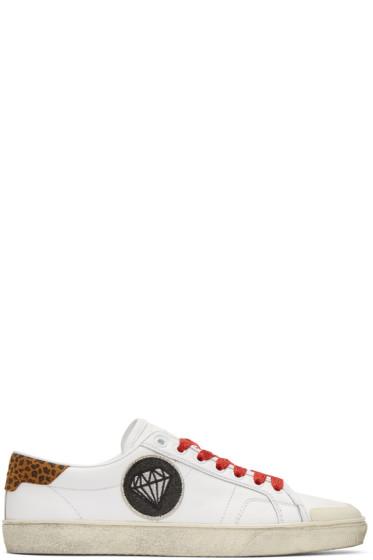 Saint Laurent - White Diamond SL/37 Surf Court Classic Sneakers