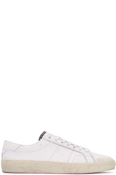 Saint Laurent - Off-White Leather SL/37 Court Classic Sneakers