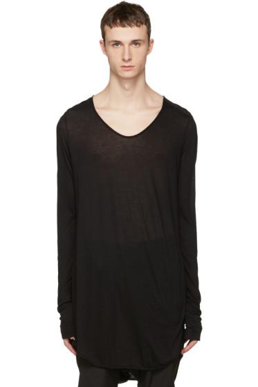 Julius - Black Round Cut & Sewn T-Shirt
