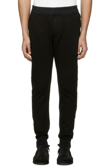 Julius - Black Knee Details Lounge Pants