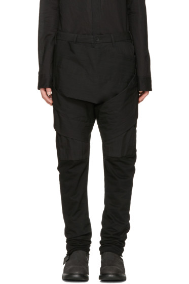Julius - Black Layered Bands Trousers