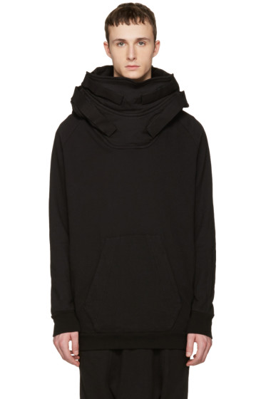 Julius - Black Fixed Parka Hoodie