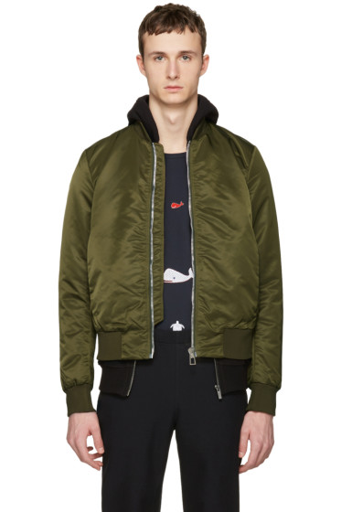 PS by Paul Smith - Green Nylon Bomber Jacket