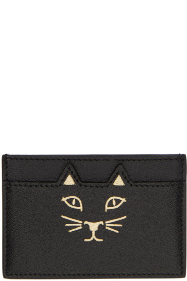 Charlotte Olympia - Black Feline Card Holder