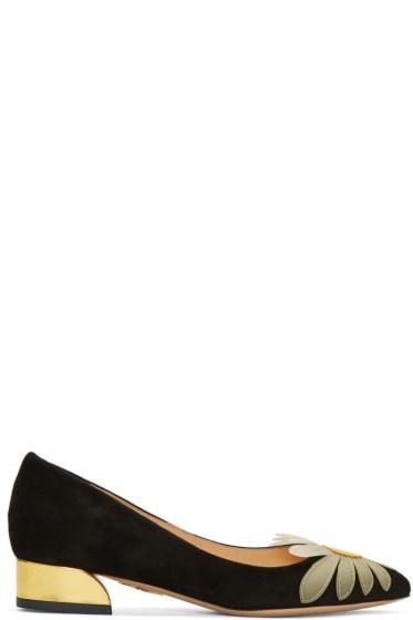 Charlotte Olympia - Black Suede Aster Heels