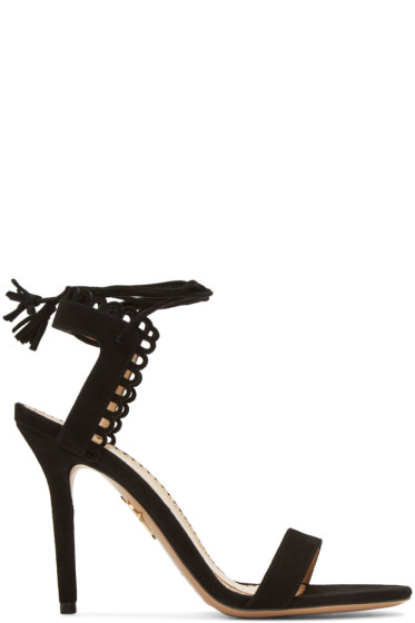 Charlotte Olympia - Black Suede Salsa Sandals