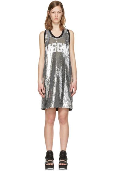 MSGM - Silver Sequin Tank Dress