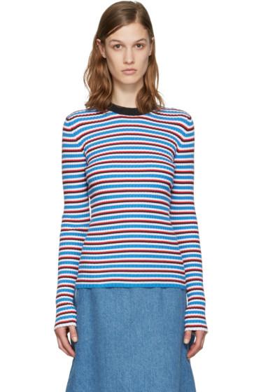 MSGM - Multicolor Striped Pullover