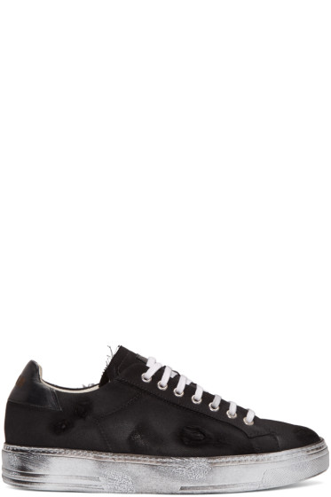 MSGM - Black Worn Out Retro Sneakers