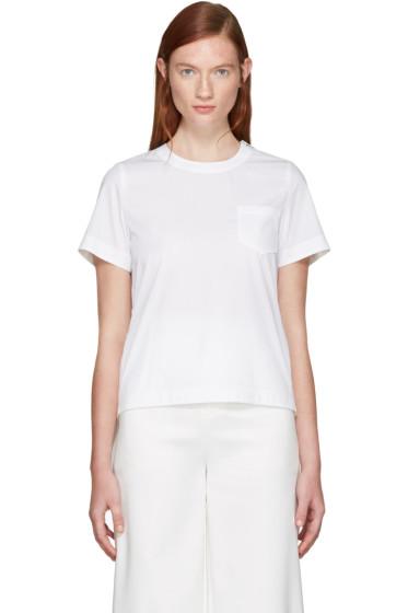 Sacai - White Classic Shirting Pleated Shirt