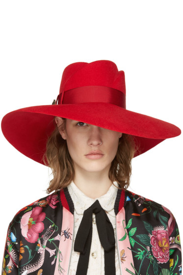 Gucci - Red Anita Fedora
