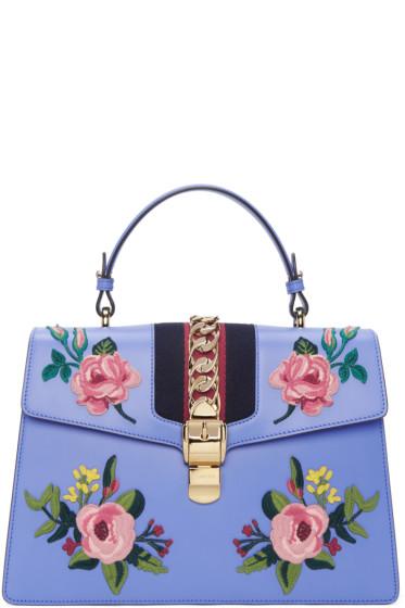 Gucci - Blue Medium Sylvie Bag