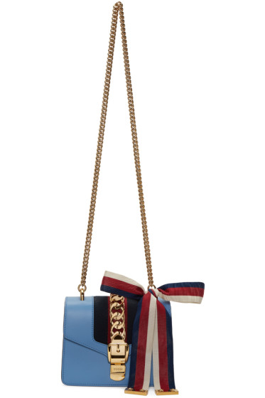 Gucci - Blue Mini Sylvie Bag
