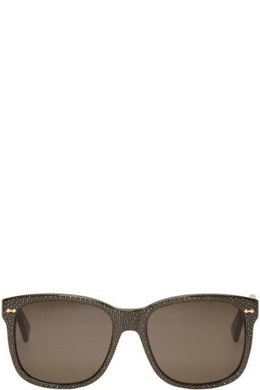 Gucci - Black Gem Set Sunglasses