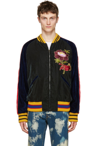 Gucci - Multicolor Velvet Bomber Jacket
