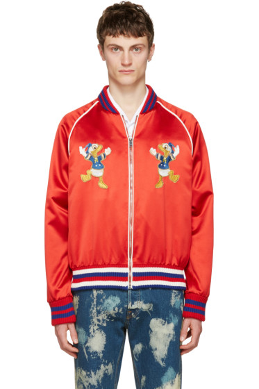 Gucci - Red Donald Duck Bomber Jacket