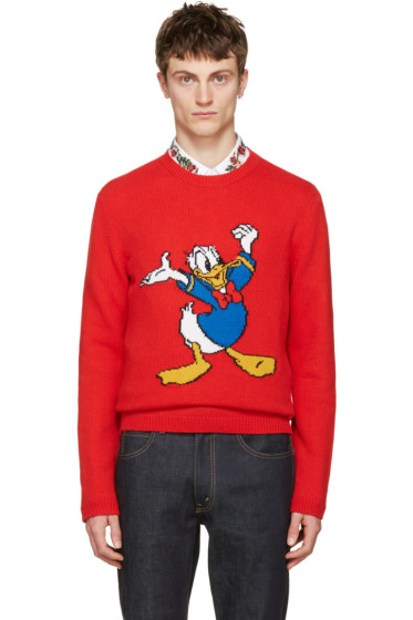 Gucci - Red Donald Duck Sweater