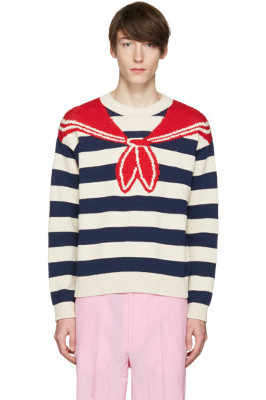 Gucci - Multicolor Trompe L'Oeil Sweater
