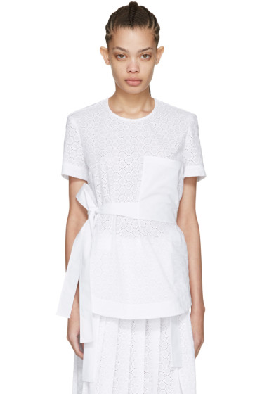 Cédric Charlier - White Lace Pocket Blouse