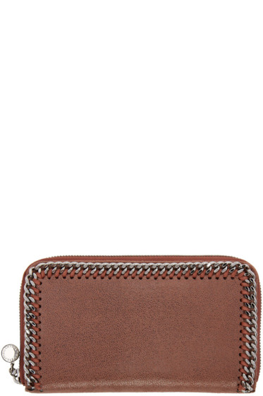 Stella McCartney - Brown Falabella Zip Wallet