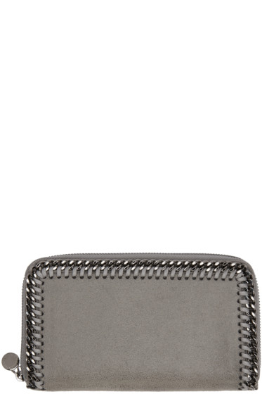 Stella McCartney - Grey Falabella Zip Wallet